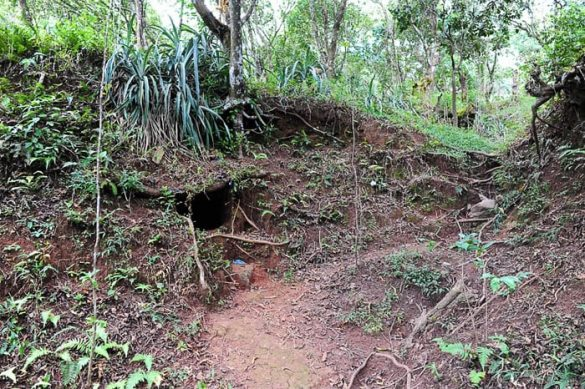 vhod v podzemni rov, Muzej revolucije Perquin, Salvador