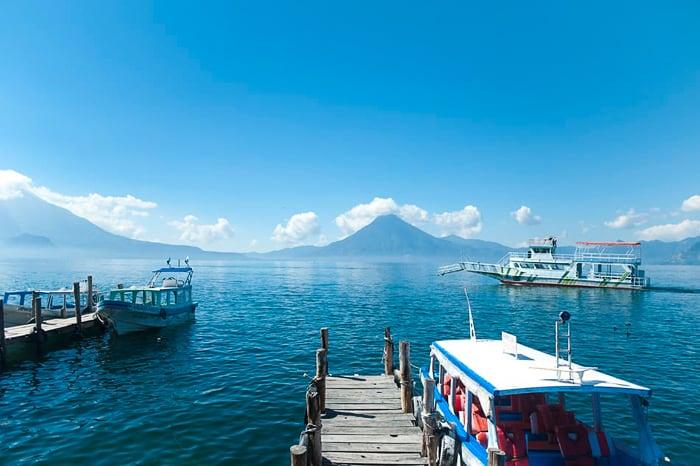 pristanišče Panajachel, Lake Atitlan