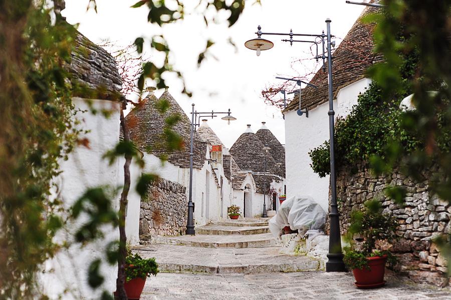 ulica v Alberobello