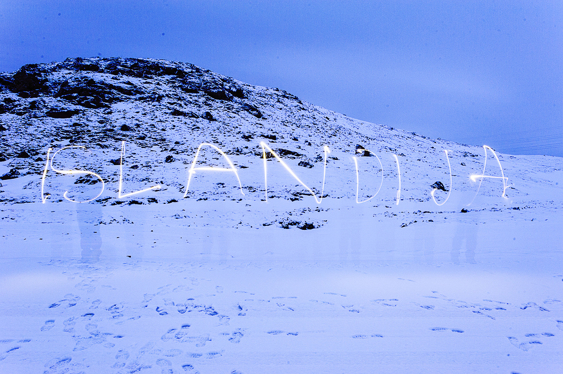 napis islandija