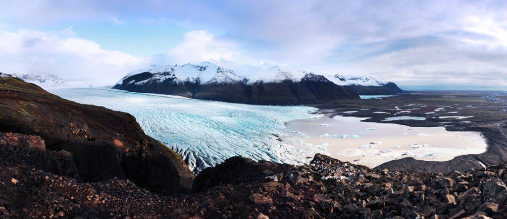 ledenik vatnajokul, islandija