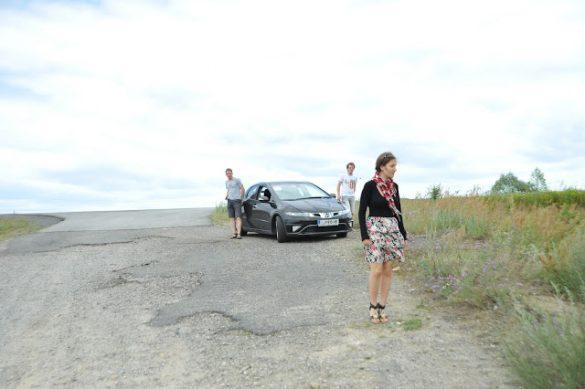 vožnja po ukrajini in slabih cestah