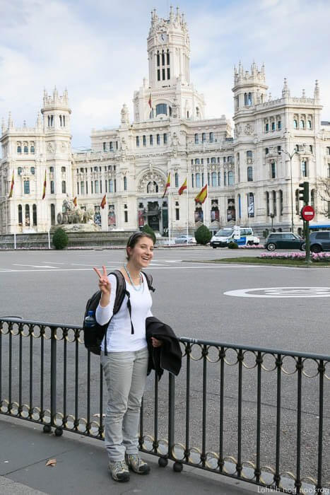 palacio de Cibeles v Madridu