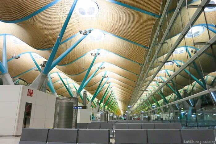 arhitektura terminala 4, letališče v Madridu