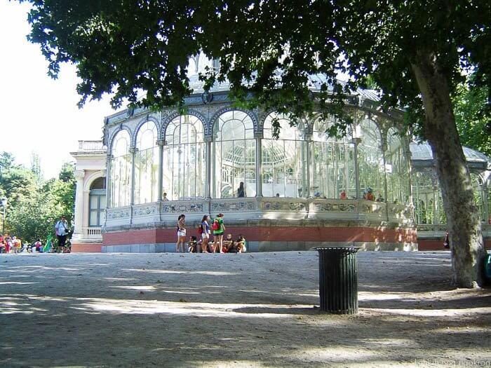 vrtni pavilijon, steklena hiša, park retiro