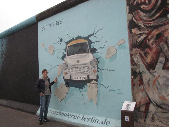 Grafiti na ostanku berlinskega zidu