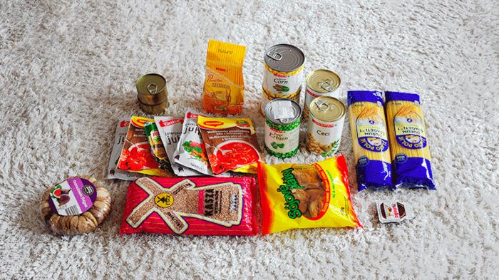 Hrana za na potovanje, konzerve, kaša, soja