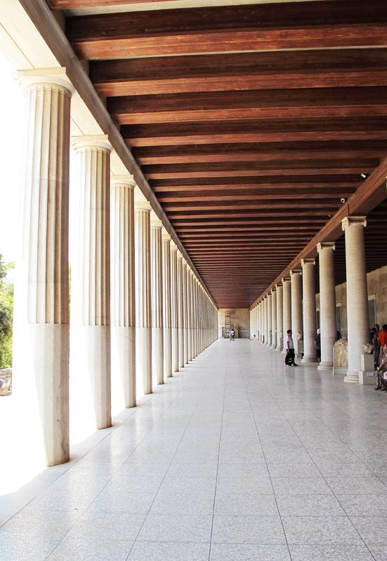 Stebrišče arheološkega muzeja v Atenah