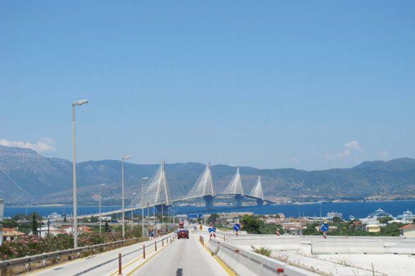Patras most na poti po celinski Grčiji z avtomobilom