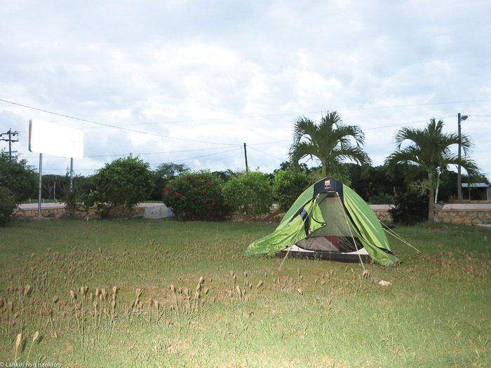 šotor, kampiranje na Jamajki