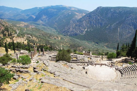 grški amfiteater, Delfi
