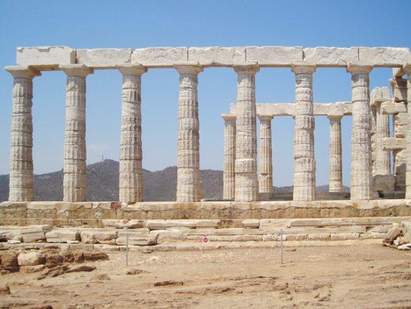 Stebrišče pozejdonovega templja v atenah, celinska grčija
