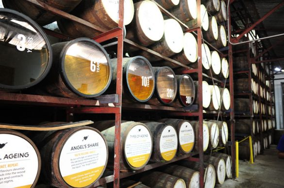 sodi na staranju v skladišču Appleton Rum Estate
