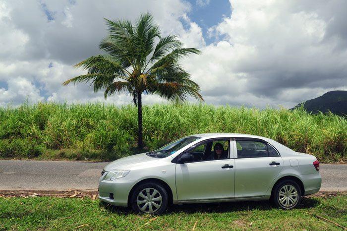 Avto pred palmo