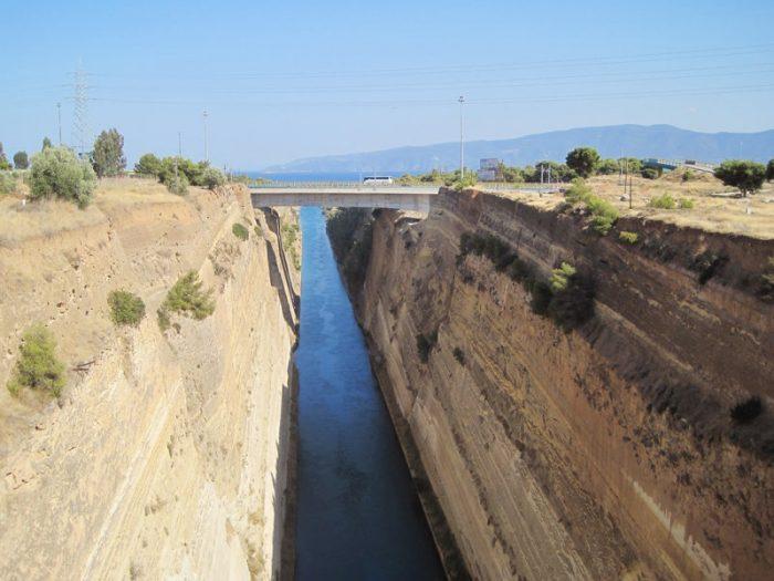 korintski prekop, grčija
