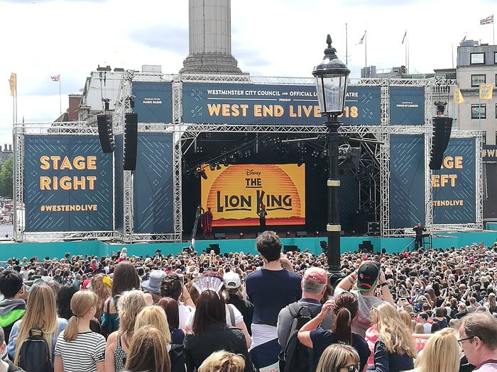 Prizorišče West End Live, predstava Disney's Lion King