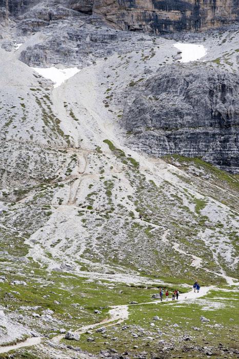 gorska pot mulatera v Dolomitih
