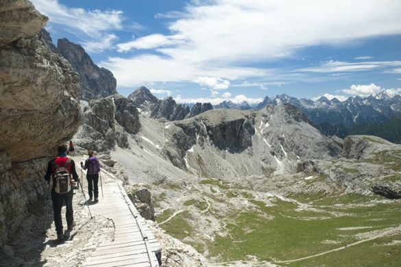 Vzpon na Oberbachernspitze, tura v Dolomitih
