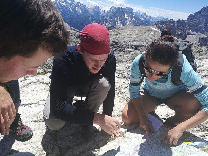 načrtovanje vzpona, pohodništvo v Dolomiti
