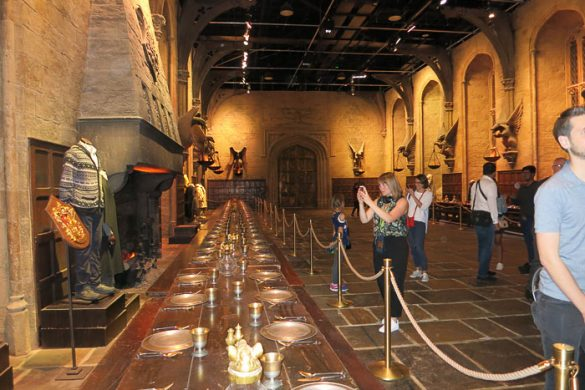 Velika dvorana Bradavičarka v Warner Bros Studio London