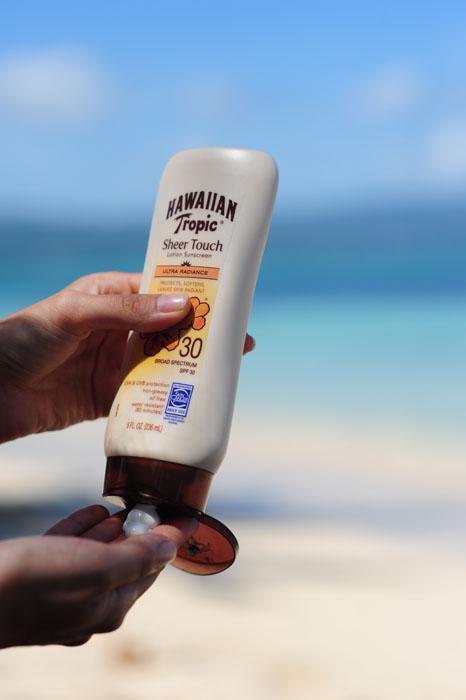 Sončna krema na plaži, Jamajka