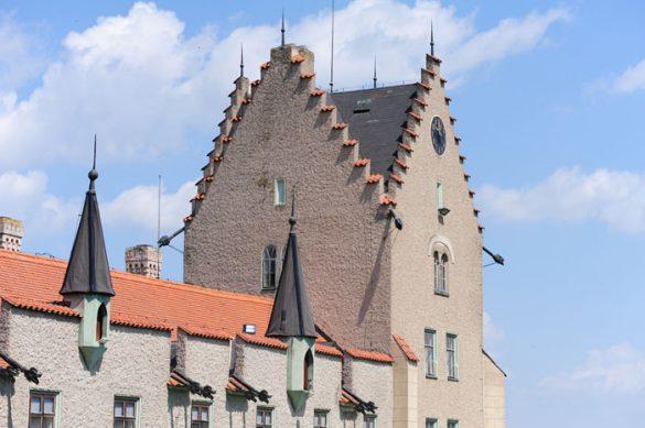 štirioglati stolp grad žleby, češki gradovi