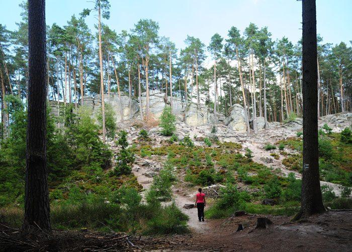 toulovcovy maštale, skalne strukture na češkem