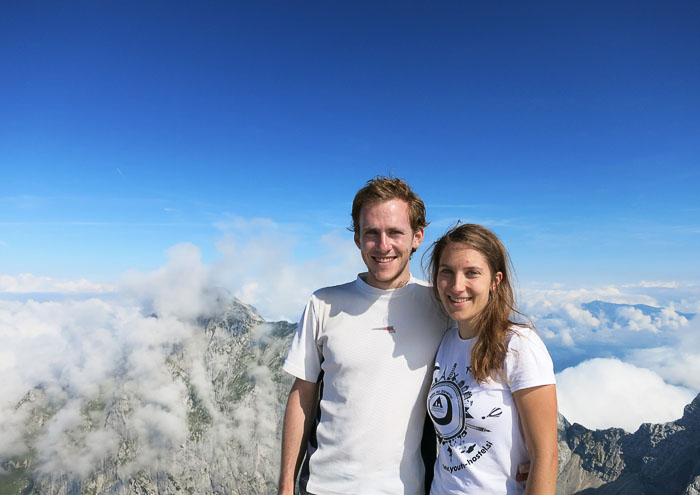 par na vrhu gore Jalovec