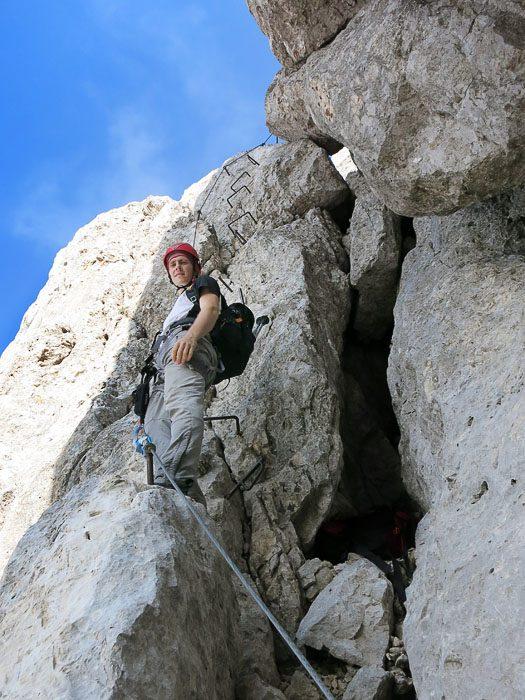 alpinist na ferati na Razor