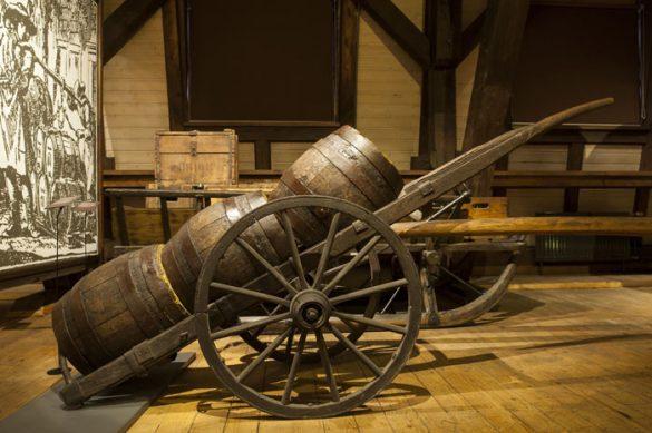 leseni sodi v muzeju pivovarstva