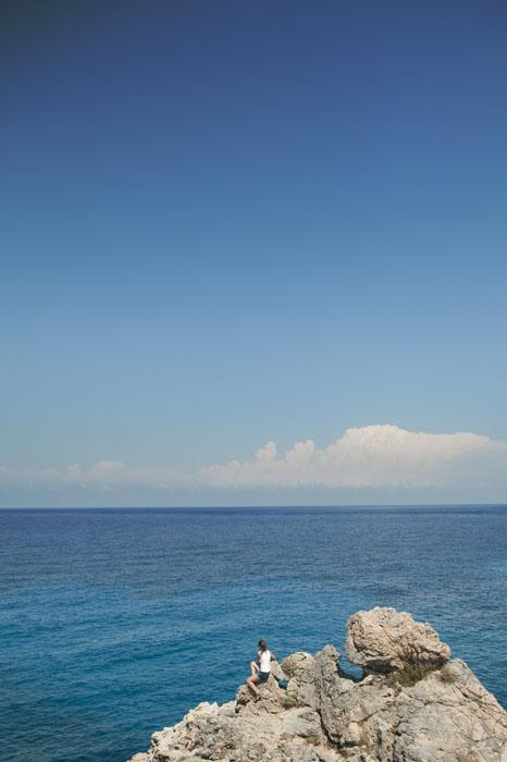 skala in daljno širno morje Ciper Sredozemsko morje