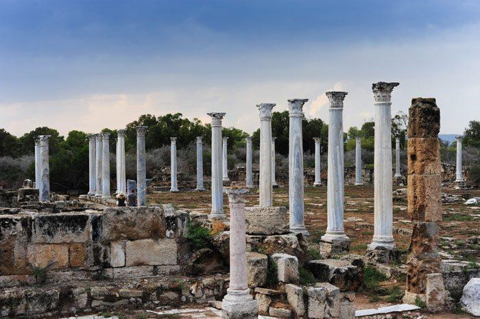 antično rimsko stebrišče, Salamis, Ciper