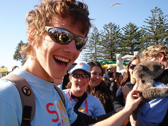 moški boža koalo, Avstralija