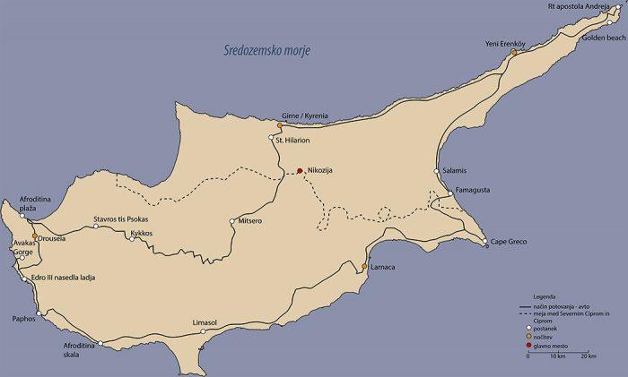 Nacrt potovanja po cipru