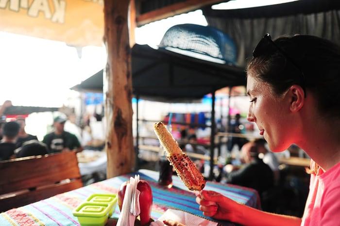 pečena koruza v Gvatemali