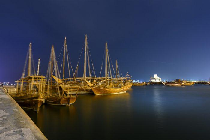 ladje dhow v Dohi