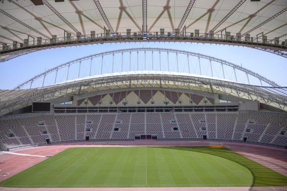 nogometno igrišče v khalifa international stadium