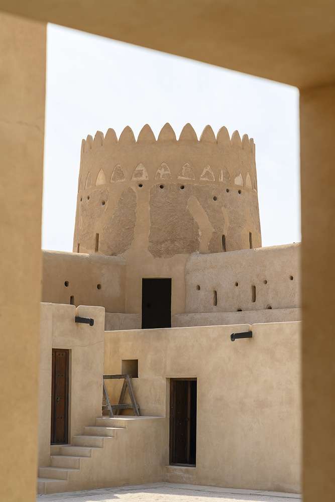 Notranje dvorišče arabske utrdbe Zubara, Katar