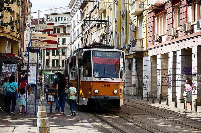 javni prevoz Sofija, rumeni tramvaj