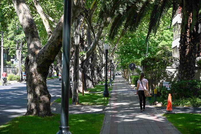 Ulica v Providencii, Santiago