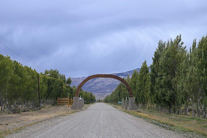 vhod v mesto Lago Posados, Argentina