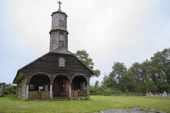 lesena cerkev na otoku Chiloe