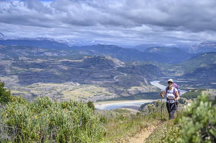Ženska pohodnica v Patagoniji