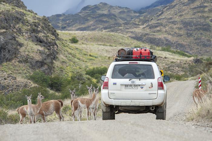 toyota 4runner med gvanaki v patagoniji