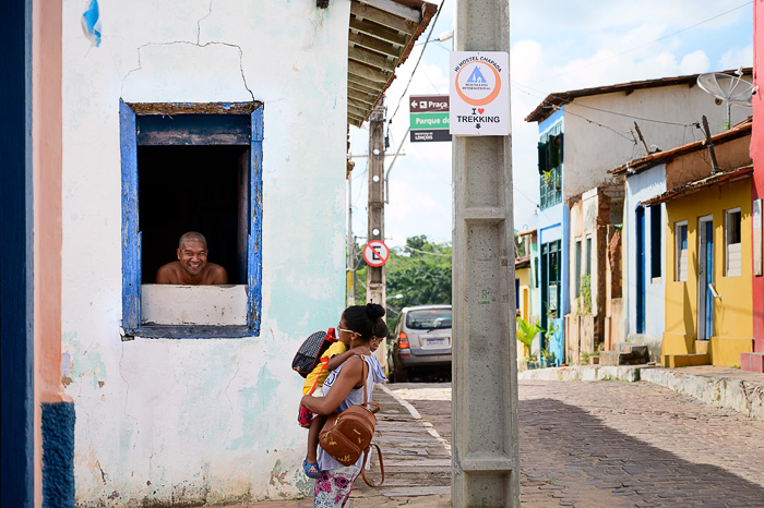 ulica v kraju Lencois, Brazilija