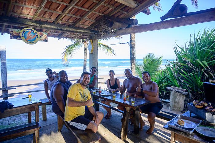 skupina moških v Braziliji