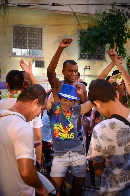 ulična zabava bloco v rio de janeiro