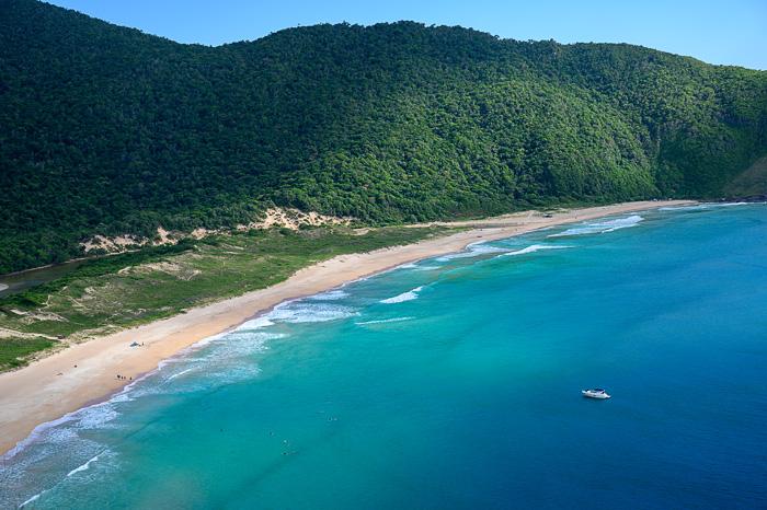 plaža Lagoinha de leste od zgoraj