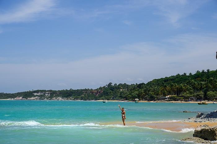 praia do espelho, brazilska plaža