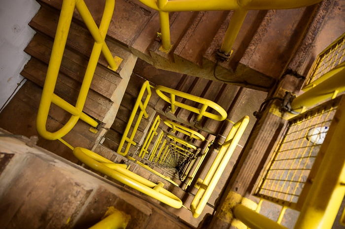 spiralne stopnice jezu hidroelekrarne ITAIPU